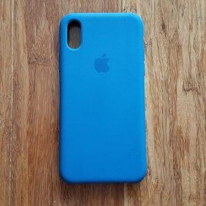Apple iPhone X Silicone Case - Blue Cobalt